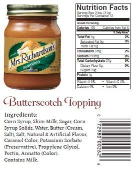 Mrs Richardsons, Topping Butterscotch (Pack of 24)