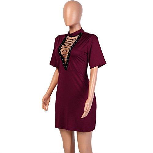 Malloom Mode Damen Verband Bodycon Kurzarm Abend Partei Mini Kleid ...