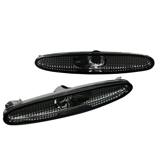 Mazda 6 Mazda6 Smoke Lens Tinted Front Bumper Lamps Side Marker Lights Pair