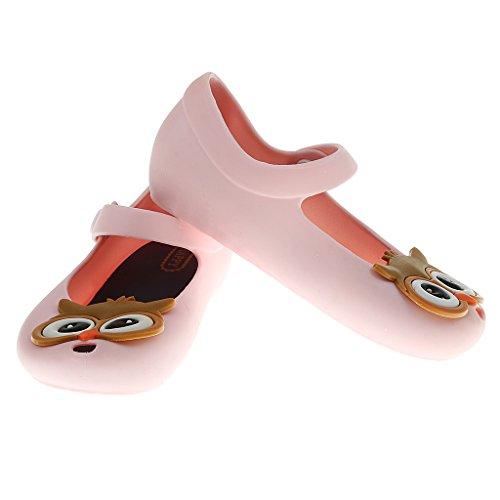 Embroma Sandalias Zapato De Lluvia Zapatos De Playa Jalea Del Búho para Bebe Niñas Muchachas - 26, Azul Rosa