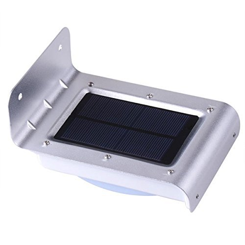 16 LED Lighting Solar Powered Motion Sensor Light Cool White Wireless Security Wall Mounted Waterproof Lamp for Garden Patio Home Decorative by Generic (Image #4)