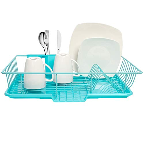 Buy blue dish drainers for kitchen sink