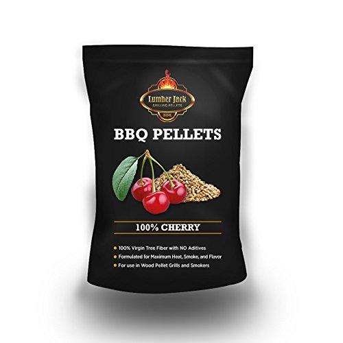 Lumber Jack 100-Percent Cherry Wood BBQ Grilling Pellets, 40-Pound -