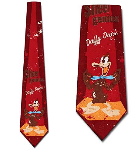 Retro Daffy Duck Tie - Mens Looney Tunes Necktie ()