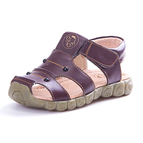 KVbaby Boy's Girl's Closed Toe Sandal Kids Summer Soft Soled Leather Sandal Outdoor Flexible - Leather Kid Soft