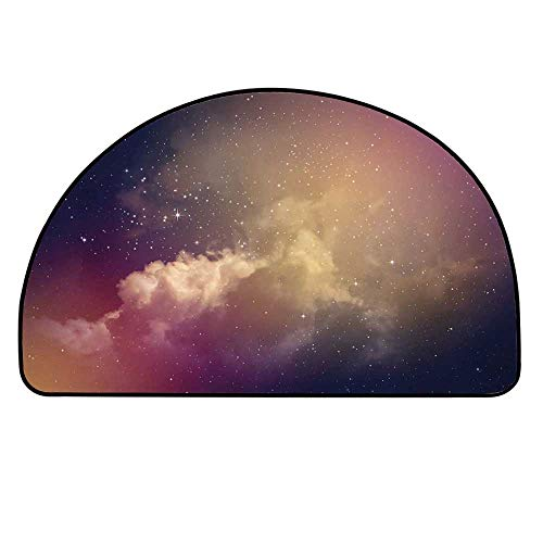 YOLIYANA Sky Doormat,Night Time with Clouds and Stars Space Constellations Depths of Universe Decorative Entryway Mat,11.8