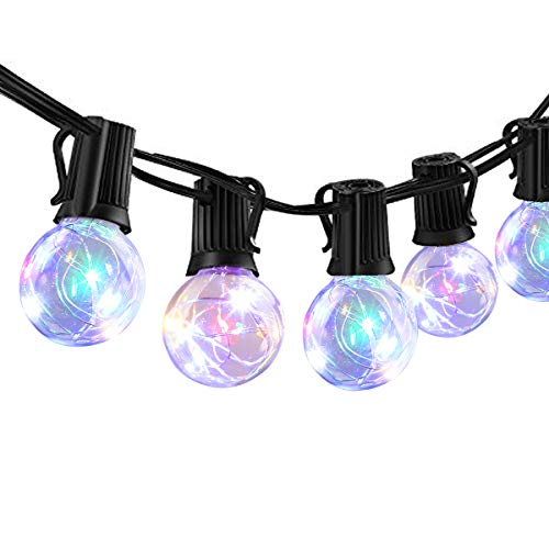 ECOWHO Globe String Lights, 33FT G40 LED Outdoor Patio String Lights, UL Listed Weatherproof with Remote for Christmas Garden Yard Wedding (Multicolor)
