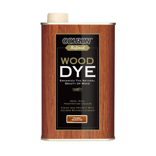 Ronseal CRWDMO500 500 ml Colron Refined Wood Dye - Medium Oak