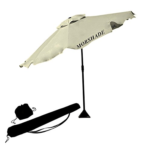 morshade-180-portable-shade-canopy-sun-and-beach-umbrella-9-foot-with-base-attachments-white