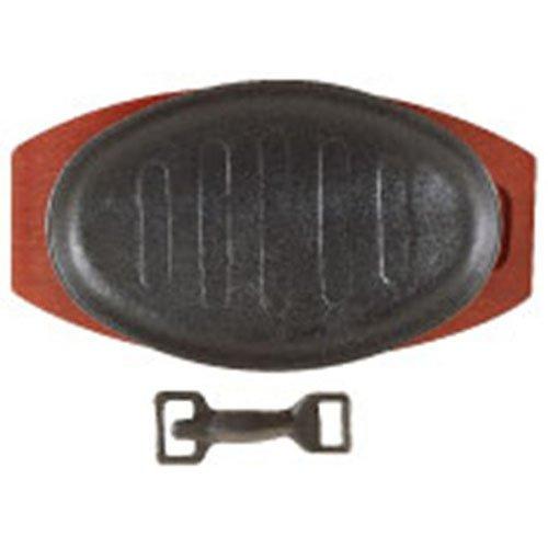 Lockhart D2098 Sizzle Platter Cast Iron Oval, 28 cm x 21 cm Genware 737-30