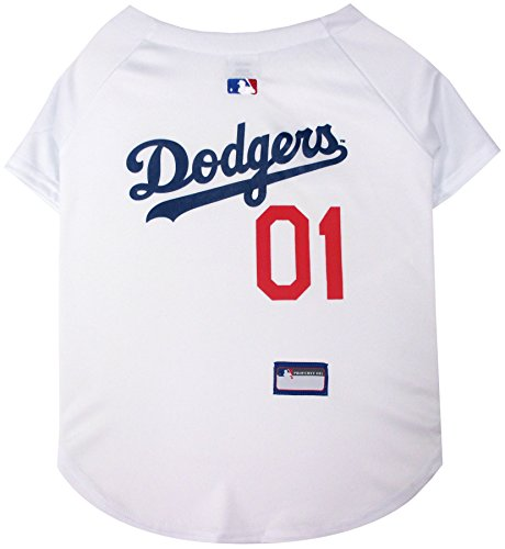 Pets First MLB Los Angeles Dodgers Dog Jersey, Medium