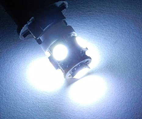 2x White 1-SMD LED Projector Lens 501,W5W,T10 12v Side Light//Interior Bulbs