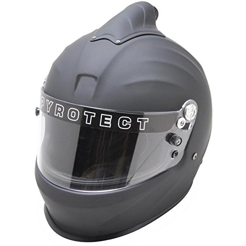 Pyrotect Face Helmet - Pyrotect 8082005 Full Face Helmet, Medium, Flat Black
