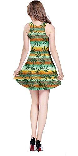 Sleeveless Dress Mexico Marihuana Cannabis 5XL Womens Marijuana Green CowCow XS Leaves Plant Marijuana qY0aWv