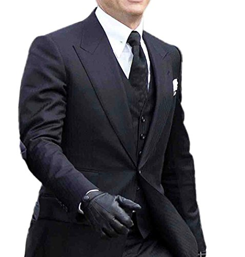 Class Jackets Costume Gift Ideas James Bond Spectre Herringbone Three Piece Suit Long US / W (James Bond Costume Ideas)