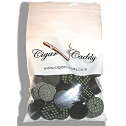 CIGAR CADDY SMALL DISC HUMIDIFIER, ROUND 50/BAG - QI