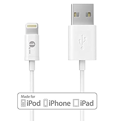 [Apple MFI Certified] 1byone Lightning to USB Cable 3.28ft (1M) for iPhone 6 6 Plus, iPhone 5/5s/5c, iPad with Retina display, iPad mini, iPad Air, iPod nano 7th Gen and iPod touch 5th Generation-1-Year Limited Warranty by 1byone