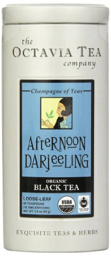 Octavia Tea Afternoon Darjeeling (Organic, Fair Trade Certified Black Tea) Loose Tea, 3 Ounce - Afternoon Tea Darjeeling