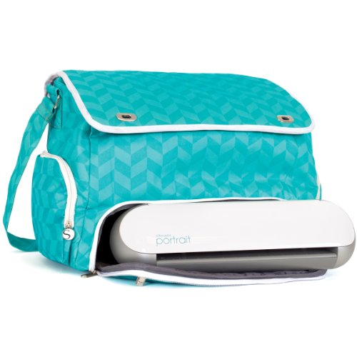 silhouette-portrait-tote-teal