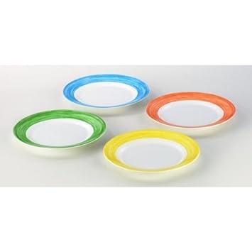 Arcoroc Kuchenteller pro Farbe orange 6 Stk /Ø 19,5 cm