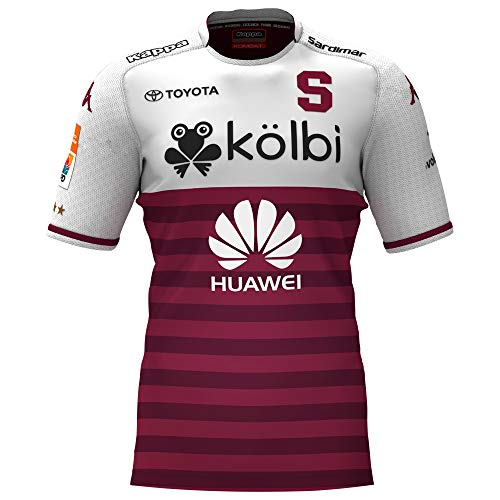 Saprissa - Home Traditional Costa Rica Team Soccer Jersey - 2019 Kappa Original Men and Youth Equipment (Small, Away) ()