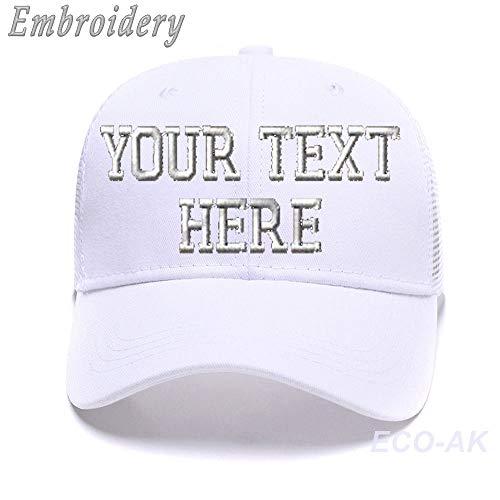 - Classic Ponytail Baseball Cap Custom Personalized Visor Dad Hat Mesh Trucker Hat White