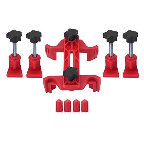 Aramox 9Pcs Car Auto Dual Cam Clamp Camshaft Engine Timing Sprocket Gear Locking Tool Kit (Cam Gear Tool)