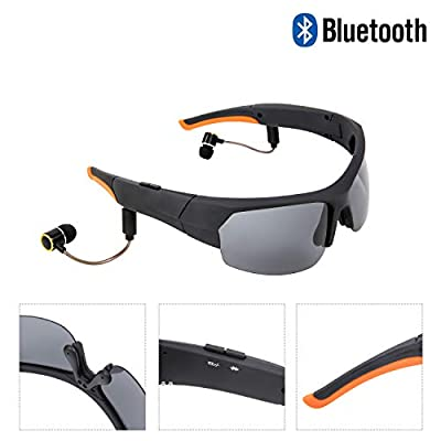 JAY-LONG Bluetooth 4.2 Smart Glasses, Polarized Sunglasses, Listening to Music, Answering Calls, Multi-Function Anti-Glare Driving Glasses