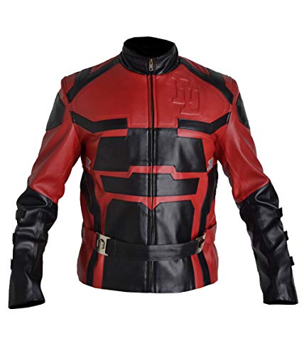 (Stormwise Men's Charlie Real Leather Cox Daredevil Fashion Jacket Sheep Red XX-Large)