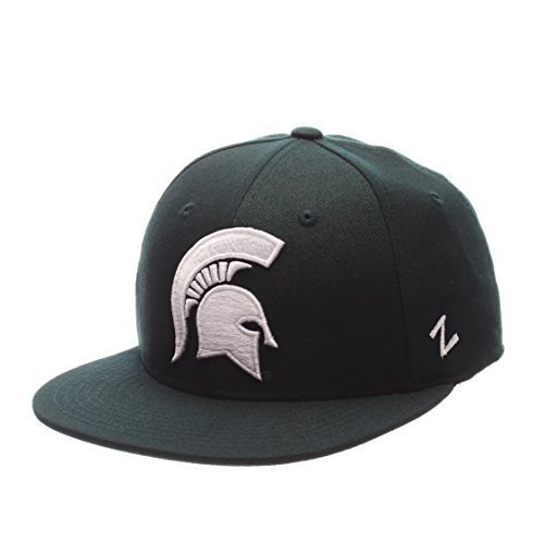 Zephyr NCAA Michigan State Spartans Men's M15 Fitted Hat, Forest, Size 7 5/8