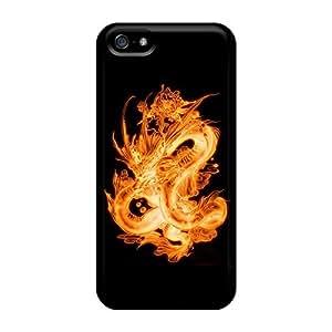 Hot Design Premium CNElxkx6600FSYME Tpu Case Cover Iphone 5/5s Protection Case(dragon)