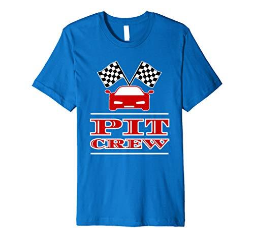 Pit Crew Costume Car Racing Checkered Flag Halloween T-Shirt]()