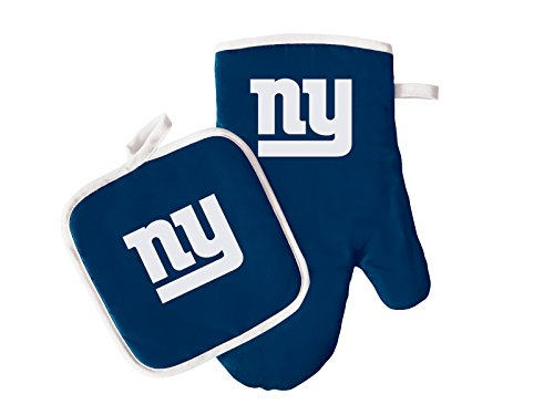 NFL New York Giants Logo Oven Mitt & Pot Holder, One Size, Blue ()