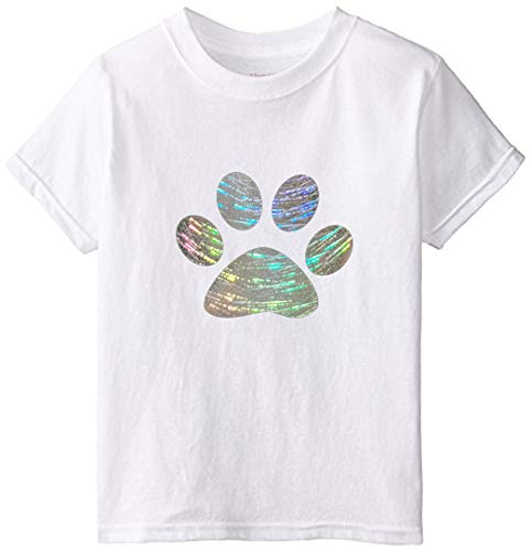 Holographic Heat Transfer Vinyl HTV Roll for T-Shirts 12 Inches x 5 Feet, Glitter Silver
