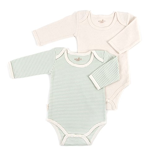 Tadpoles Organic Long Sleeve Pinstripe Bodysuits - Set of 2, ()