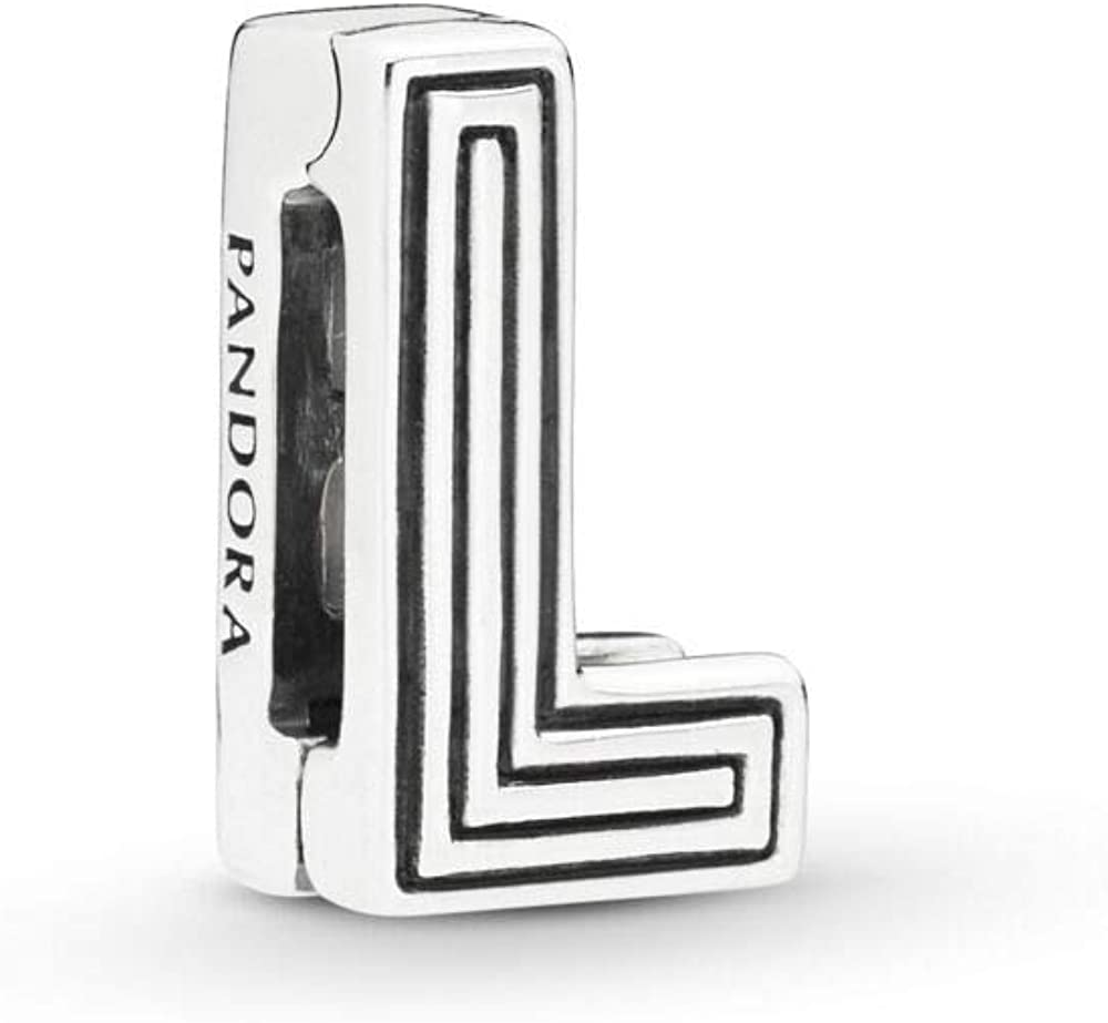 PANDORA REFLEXIONS Letter Initial Clip 925 Sterling Silver Charm