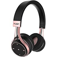 BlueAnt - Pump Soul On Ear Wireless HD Headphones, Stylish, Audio with One Touch Controls (Black Rose Gold)