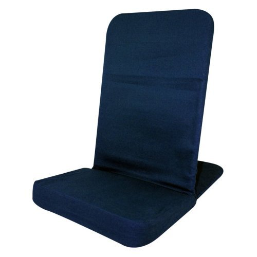 Portable Floor Chair, Karma Chair, Folding Chair. NAVY. Adjustable Angle Back-Rest. 14