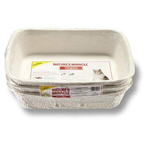Litter Boxes Nature's Miracle Disposable Litter Box, Regular