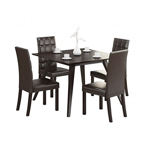 CorLiving DRG-895-Z Atwood 5-Piece Dining Set with Dark Brown Leatherette Seats Review