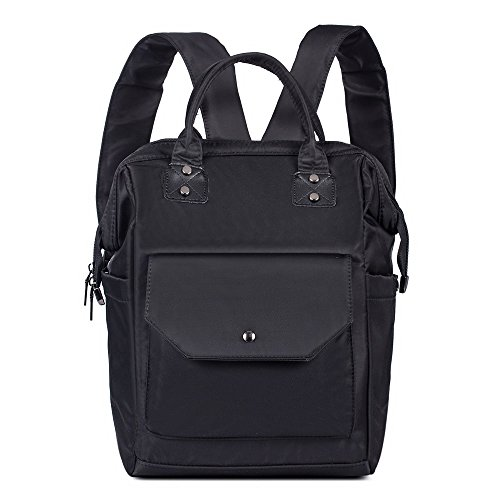Diaper Bag Multi-Function Backpack Waterproof Oxford Mummy& Daddy Bag (Black) by Mufly