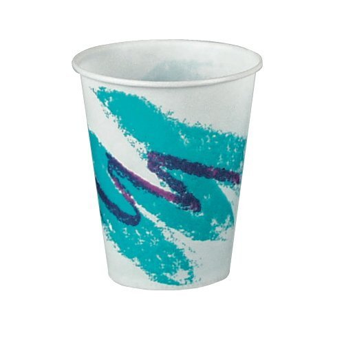 7 Oz Jazz Wax Coated Treated Paper Cold Cup-200/pack plus 2 reusable clip on cup plastic handles