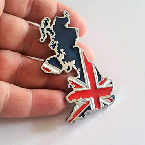 Adhesive Car Badge - SAISDON- Uk England Flag Union Jack Hq Metal Chrome Car Badge Sticker Decal Emblem Trunk Side Logo Auto 3D Adhesive Die Cast Zinc Alloy [1 Piece][2062]