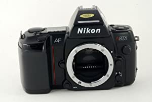 Nikon N8008 SLR film camera with MF-20 data back; body only