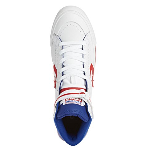 Converse Pro Blaze Plus Hi White Red Blue Weiß
