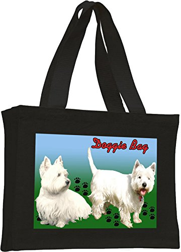 Terrier Black Highland bag Cotton West West Highland shopping Cotton Terrier qEEvRAxw