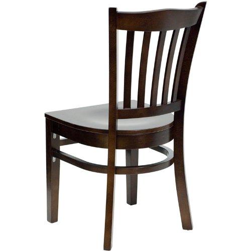 Flash Furniture HERCULES Series Vertical Slat Back Mahogany Wood Restaurant Chair by Flash Furniture (Image #2)