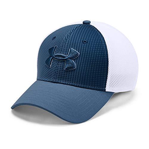 Golf Mesh Cap - Under Armour Men's Microthread Golf Mesh Cap, Thunder//Petrol Blue, Large/X-Large