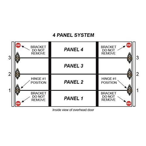 Garage Door Hinge Spring Loaded Self Sealing Energy Saver 4 Panel Commercial MFG# C4416-40 by Green Hinge System (Image #6)