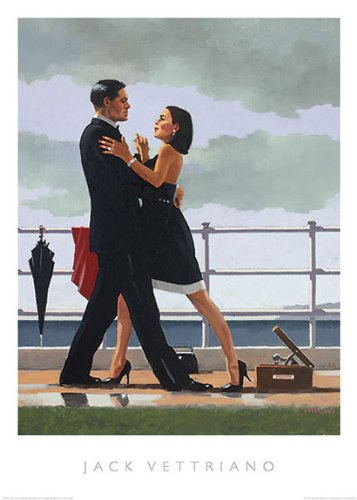 (Anniversary Waltz Jack Vettriano Romance Couple Dancing Print Poster 19.5x27.5)